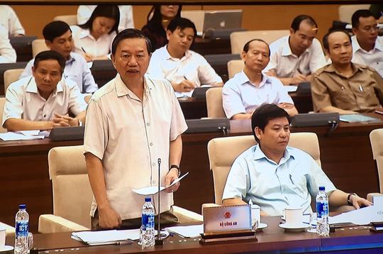 """Bộ trưởng Bộ Công an Tô Lâm cho biết gia tăng tình trạng """"tội phạm trong doanh nghiệp""""Ảnh: Nguyễn Nam"""