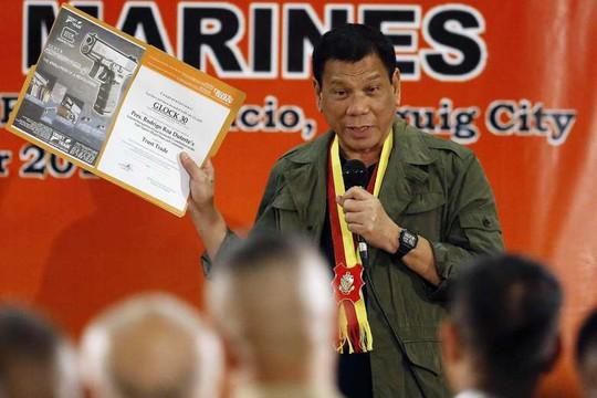 Tổng thống Rodrigo Duterte. Ảnh: EPA