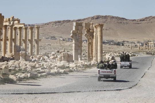 Quân đội Syria tại TP Palmyra hồi tháng 4 năm nay. Ảnh: REUTERS