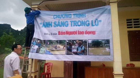 Chường trình ánh sáng vùng lũ đã đến với dân vùng lũ Quảng Bình
