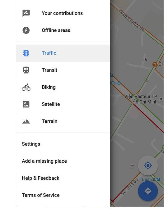 Tính năng Traffic đã được cập nhật trong Google Maps tại Việt Nam.