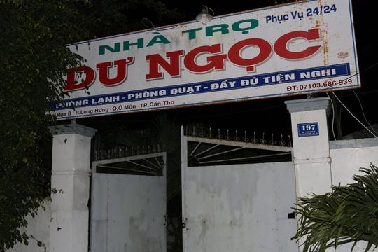 Nhà trọ Ngọc Dư- nơi lực lượng công an bắt quả tang các đối tượng mua bán dâm