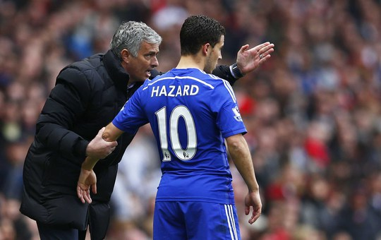 """Mối quan hệ Mourinho - Hazard nổi sóng vào đầu mùa trước và ngôi sao người Bỉ bị HLV ám chỉ là """"phản bội"""" ôngẢnh: REUTERS"""