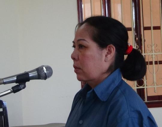 Bị cáo Trần Thị Hiền tài tòa