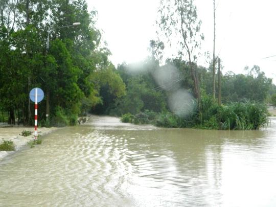 Khu vực nơi 2 mẹ con chị Vũ bị nước cuốn trôi