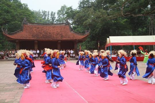 Một tiết mục trong phần khai mạc Lễ hội Lam Kinh 2016 Ảnh: Thanh Tuấn