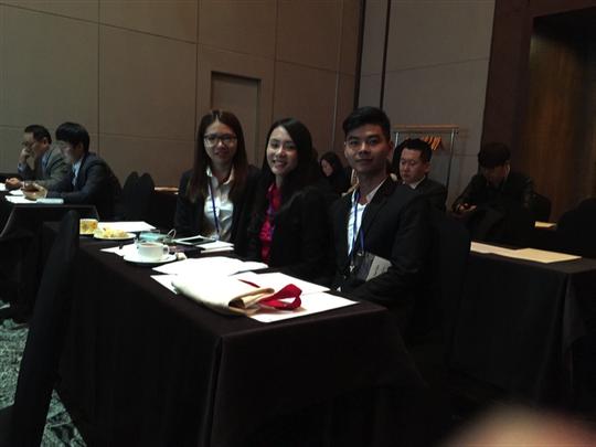 3 sinh viên của Đại học Tân Tạo tham dự Hội nghị Busan, Hàn Quốc