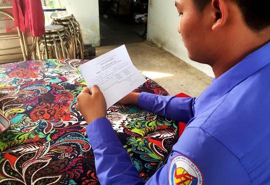Nguyễn Hữu H. bị mất việc sau khi đứng ra tố cáo tài xế nghe điện thoại lúc chở khách