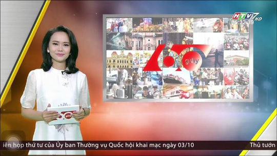 Chương trình 60 giây sáng của HTV chính thức lên sóng từ ngày 1-10