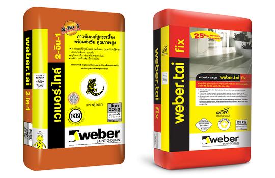 Hai dòng sản phẩm weber.tai fix và weber.tai 2-in-1 được sử dụng rất phổ biến cho việc ốp lát gạch tại phòng ngủ và nhà tắm.