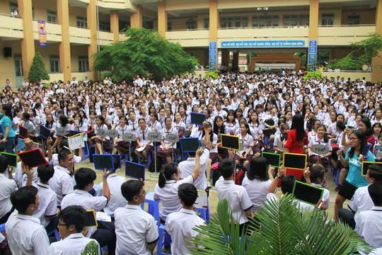 Học sinh trường THPT Tây Thạnh (Q. Tân Phú) tham gia YAAB 2017