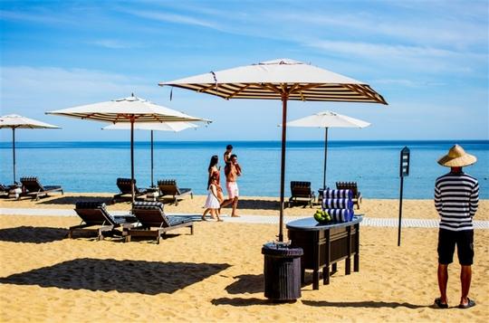 Bãi biển đẹp tại Khu nghỉ dưỡng InterContinental Danang Sun Peninsula Resort