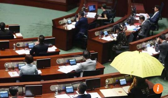 Buổi tuyên thệ diễn ra hôm 12-10. Ảnh: SCMP