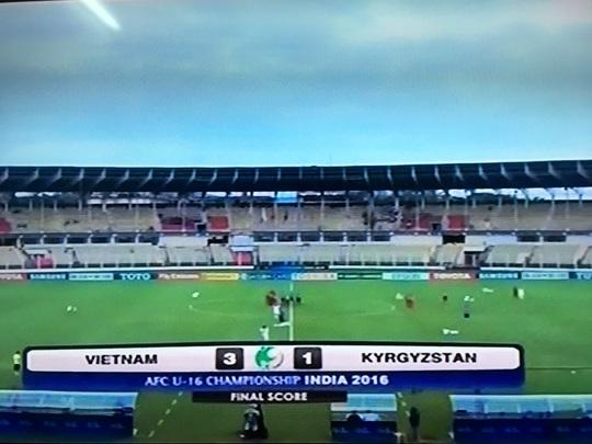 U16 Việt Nam xuất sắc đánh bại U16 Kyrgyzstan 3-1 để giành vé thứ hai bảng B vào tứ kết