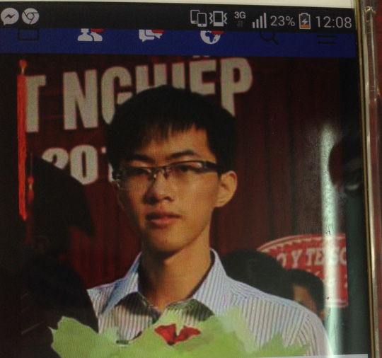 Nguyễn Văn Trọng mất tích nhiều ngày qua. Ảnh do gia đình cung cấp