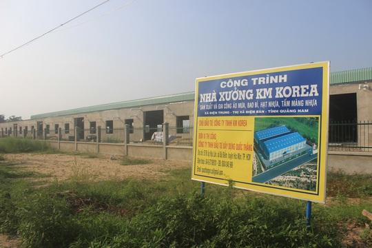 Nhà máy gần hoàn thiện dù chưa được cấp phép