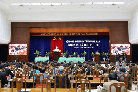 Quang cảnh kỳ họp thứ 3 HĐND tỉnh Quảng Nam khóa IX