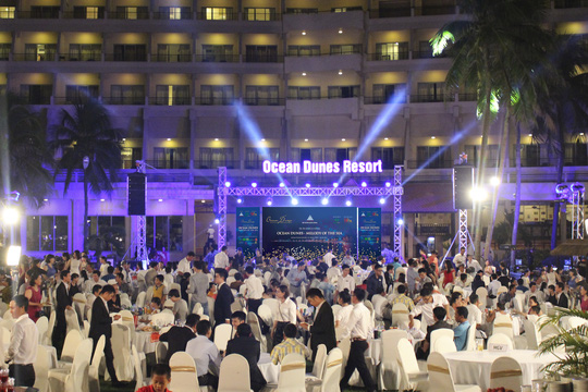 Khách hàng tham gia sự kiện mở bán dự án OCEAN DUNES tại Phan Thiết