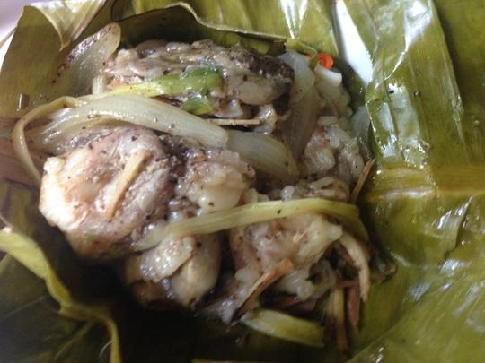 Ruột cá lóc hấp