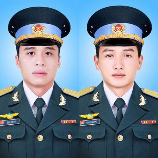 Thượng uý Đặng Đình Duy (ảnh trái) và Thượng uý Nguyễn Văn Tùng (ảnh phải), ảnh: Cổng TTĐT Bộ Quốc Phòng