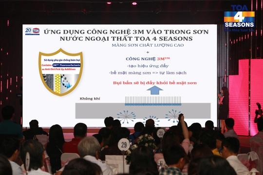 Tại buổi giới thiệu sản phẩm mới của SƠN TOA Việt Nam