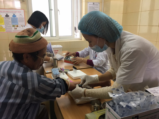 BV K đã lập thêm các bàn lấy mẫu xét nghiệm sau khi người bệnh bức xúc phản ánh với Bộ trưởng Y tế