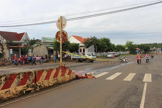 Hiện trường vụ tai nạn khiến 1 người tử vong