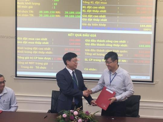 SCIC ký kết chuyển nhượng cổ phần cho nhà đầu tư đấu giá thành công.
