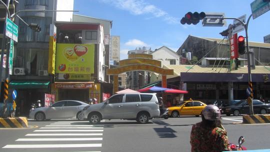 Một ngôi chợ khá đông đúc ở TP Đài Nam