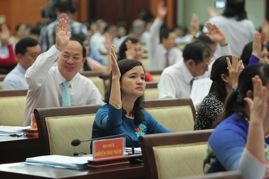 Các đại biểu HĐND tham dự kỳ họp thứ 3 HĐND TP HCM khóa IX