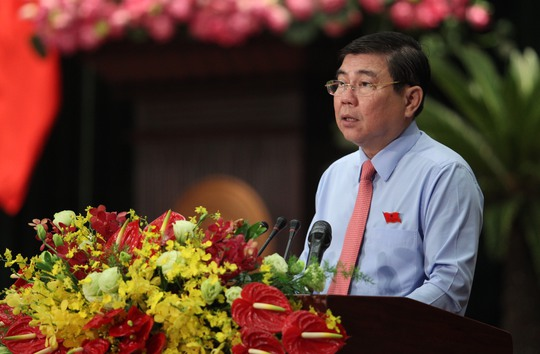 Chủ tịch UBND TP HCM Nguyễn Thành Phong phát biểu tại phiên khai mạc
