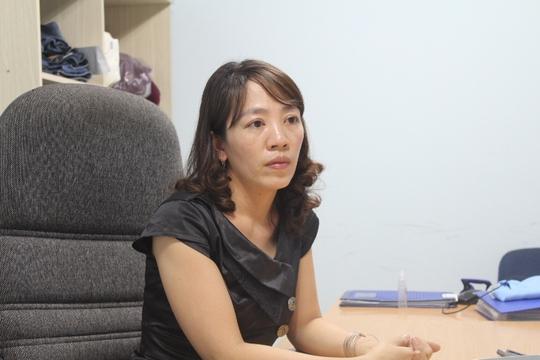 Bà H. trao đổi với phóng viên xung quanh sự việc