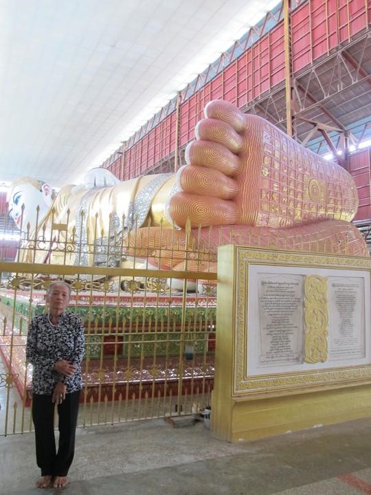 Dấu chân đức Phật ở chùa Vàng Shwedagon
