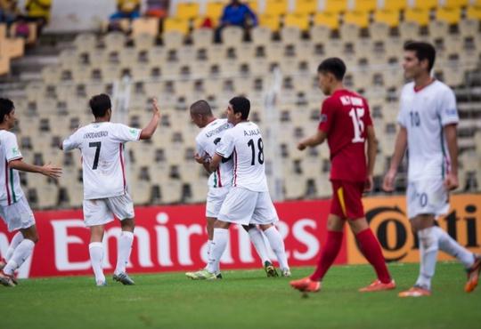 U16 Iran hoàn toàn vượt trội so với U16 Việt Nam