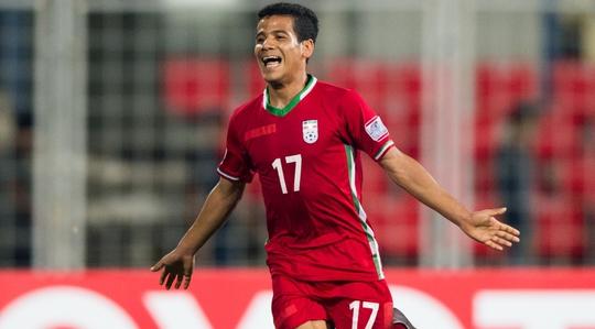 Mohamed Ghaderi của U16 Iran cũng là một đối thủ nguy hiểm cho hàng thủ U16 Việt Nam