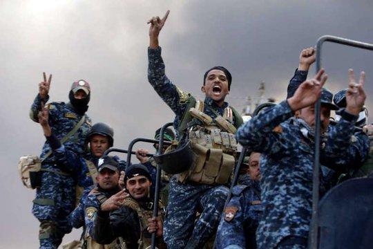 Lực lượng Iraq trên đường tiến đến Mosul. Ảnh: REUTERS