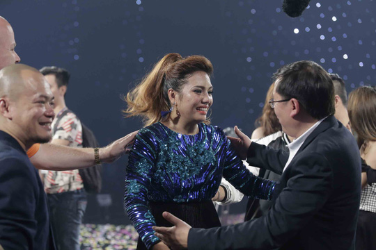 Janice Phương với niềm vui chiến thắng