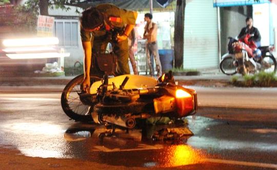 Xe máy nạn nhân tại hiện trường