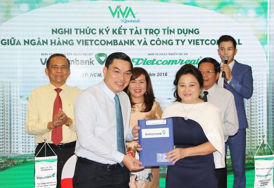Ký kết tài trợ tín dụng giữa Vietcombank và Vietcomreal