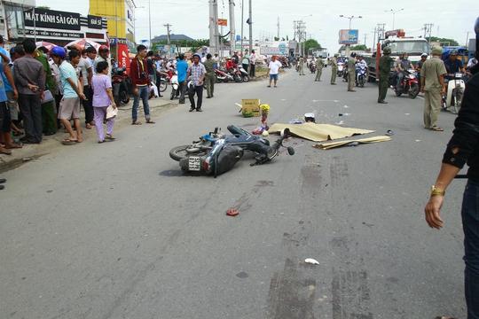 Phân luồng giao thông bảo vệ hiện trường vụ tai nạn