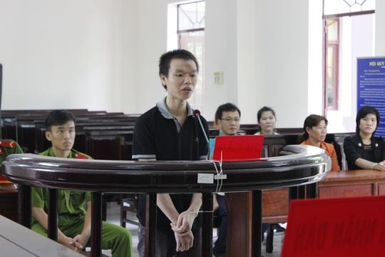 Bị cáo Huy tại phiên xét xử sơ thẩm