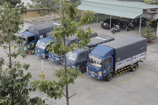 Các xe tải tham gia vụ vận chuyển bị tạm giữ
