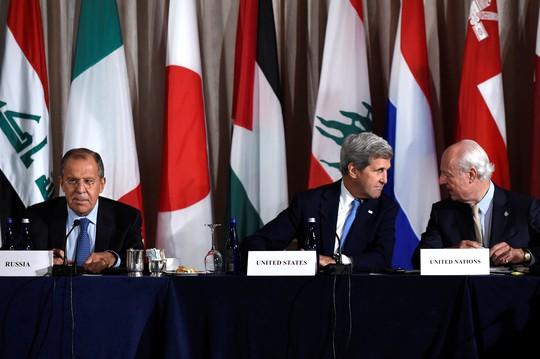 Cuộc gặp cấp cao của Ngoại trưởng Mỹ John Kerry và người đồng cấp Nga Sergei Lavrov không đạt được nhất trí về khôi phục lệnh ngừng bắn tại Syria. Ảnh: Reuters