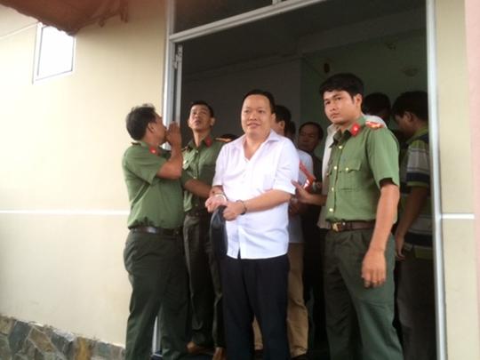 Nguyễn Huỳnh Đạt Nhân lúc bị bắt. Ảnh: Công an cung cấp