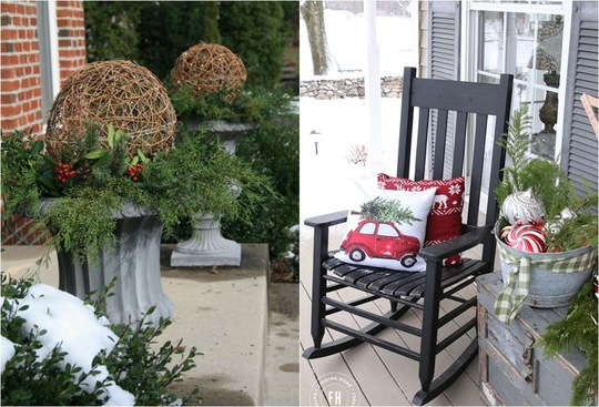 Mỗi chậu cây như một bó hoa xinh xắn khi được kết hợp với đồ trang trí một cách khéo léo.