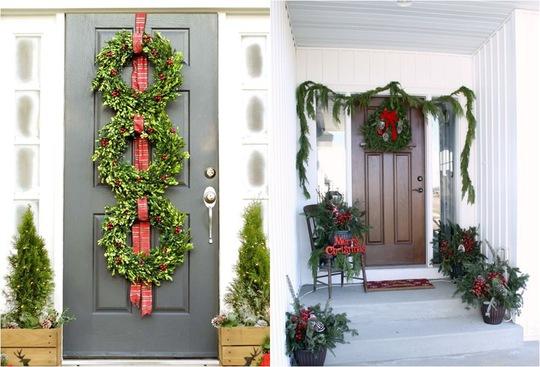Một chút khéo léo trang trí khung cửa chính, đặt thêm vài đồ vật nho nhỏ cạnh cửa để tạo nên vẻ đẹp hút mắt chào đón mùa Noel đang về.