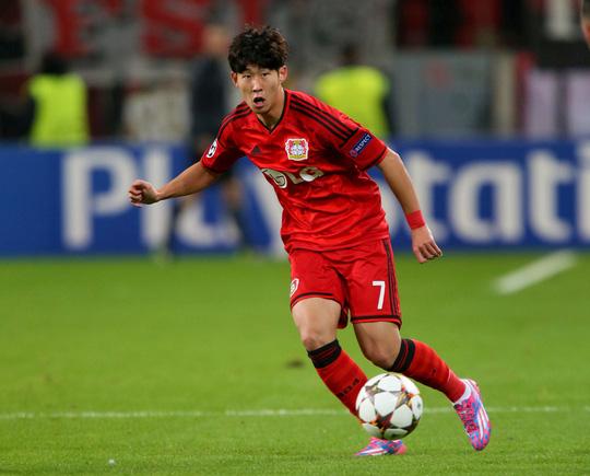 Heung Min trong màu áo Leverkusen