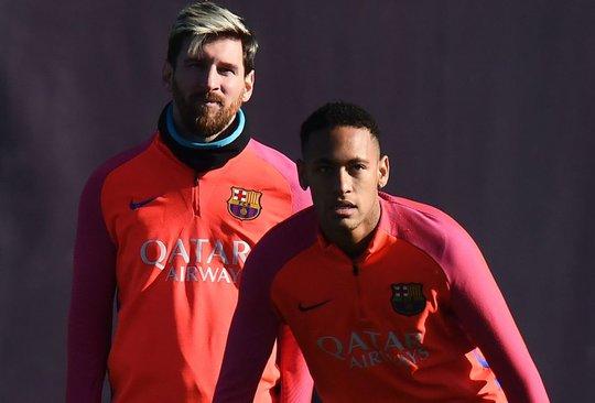 Lionel Messi và Neymar thoải mái trước trận tiếp Real
