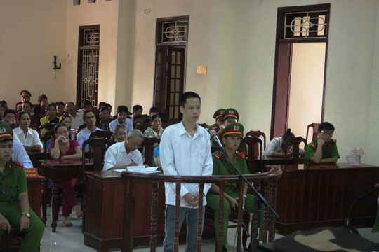 Bị cáo Thịnh tại phiên toà