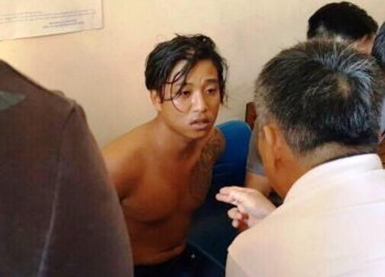 Nghi phạm Châu Minh Nhân thời điểm bị bắt